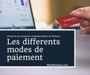 Les differents modes de paiement