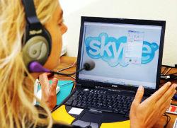téléphonie Internet par skype