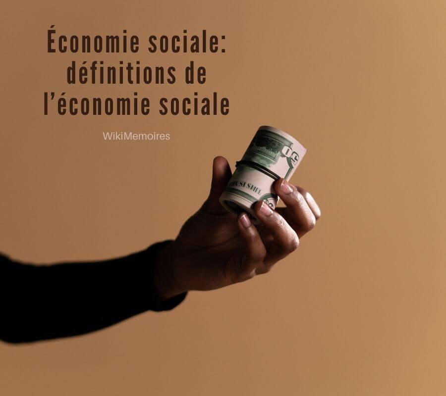 Économie sociale: définitions de l'économie sociale