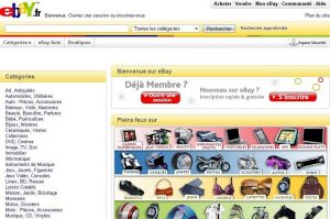 Ebay – Page d'accueil