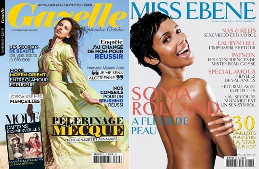magazines féminins ethniques français : Gazelle et Miss Ebène