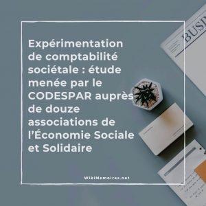 Expérimentation de comptabilité sociétale
