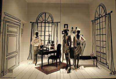 Vitrine H&M Bd Haussmann le 1 octobre 2009