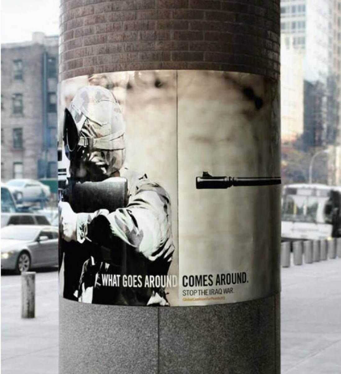Photographie affichée, média d'implication dans les campagnes de communication sociétale