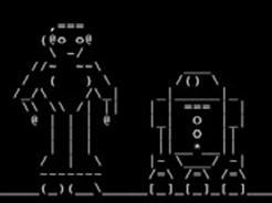 Star Wars en ASCII Deep ASCII, Vuk Cosic