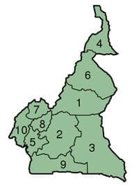 Les provinces du Cameroun.