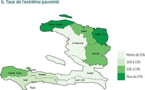 Taux de pauvreté et pauvreté extrême par département en 2012