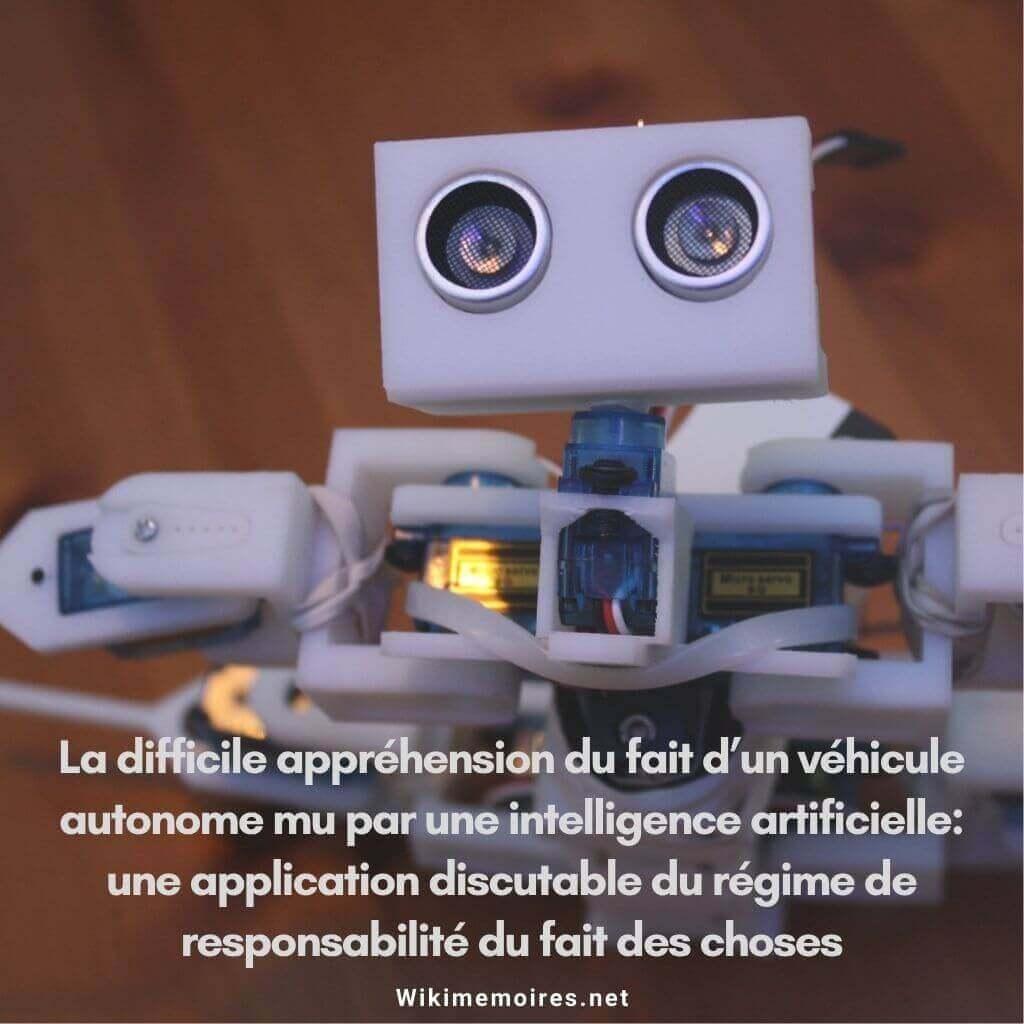 La difficile appréhension du fait d'un véhicule autonome